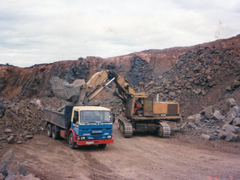 6 wheeler working in a quarry